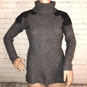 Loft turtleneck sweater with shoulder lace Small